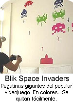 premio pegatinas space invaders blik