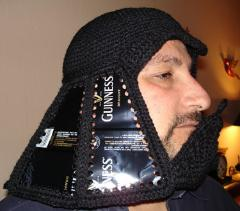 casco darth vader ganchillo
