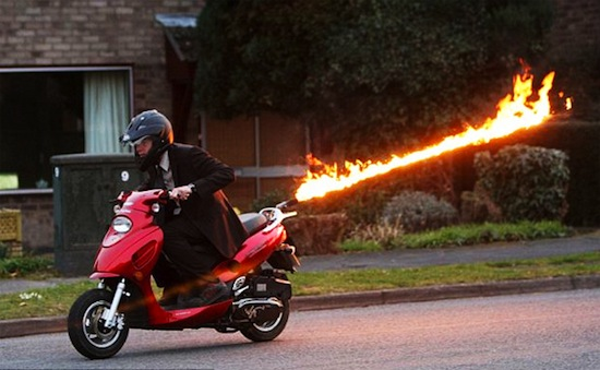 FlameThrowing Scooter