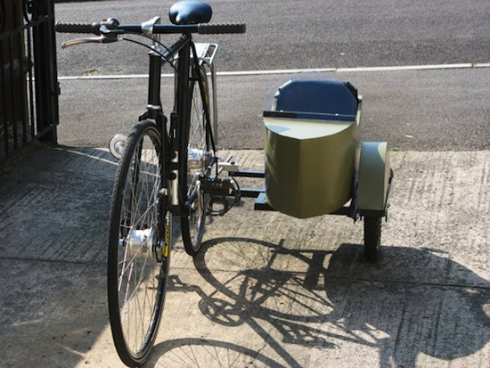 Bicicleta con sidecar no puedo creer for How to build a side by side