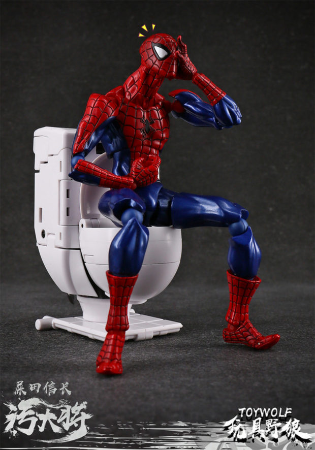 Figura Dirty Man con Spiderman